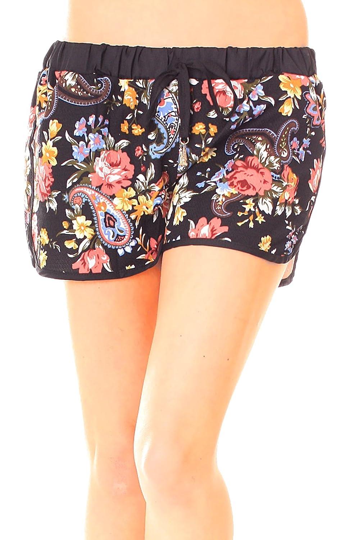 Été short tricotmaterial shorty-combinaison en néoprène-femme-multicolore