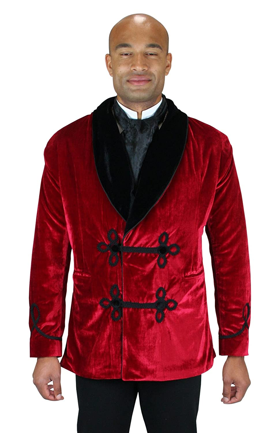 Men's 1900s Costumes: Indiana Jones, WW1 Pilot, Safari Costumes Vintage Velvet Smoking Jacket $129.95 AT vintagedancer.com