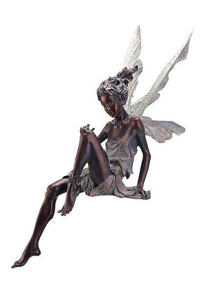 Charmant Napco Sitting Fairy Garden Statue, 24 Inch Tall