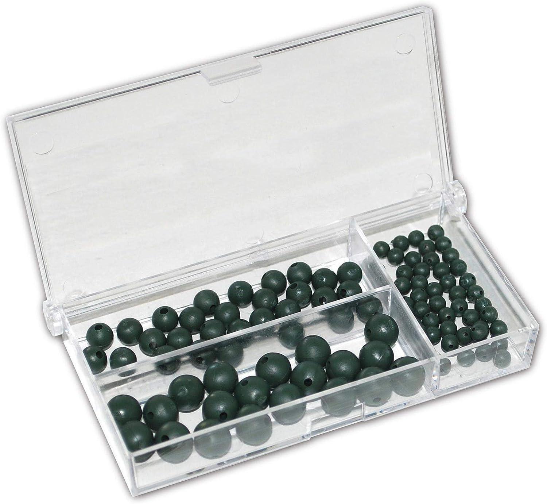 Premium Gummi Perlen olive Behr Gummiperlen angeln