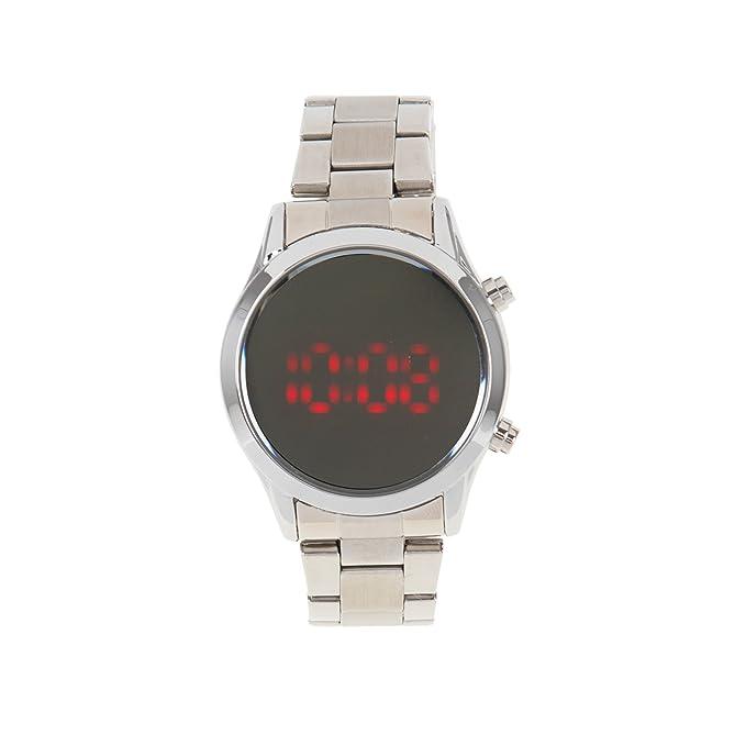 Parfois - Reloj Digital - Mujeres - Tallas M - Plateado: Amazon.es: Relojes