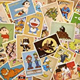 Fancyoung 32 PCS 1 Set Vintage Retro Old Cartoon Postcard Greeting Cards Souvenir Gifts for Worth Collecting
