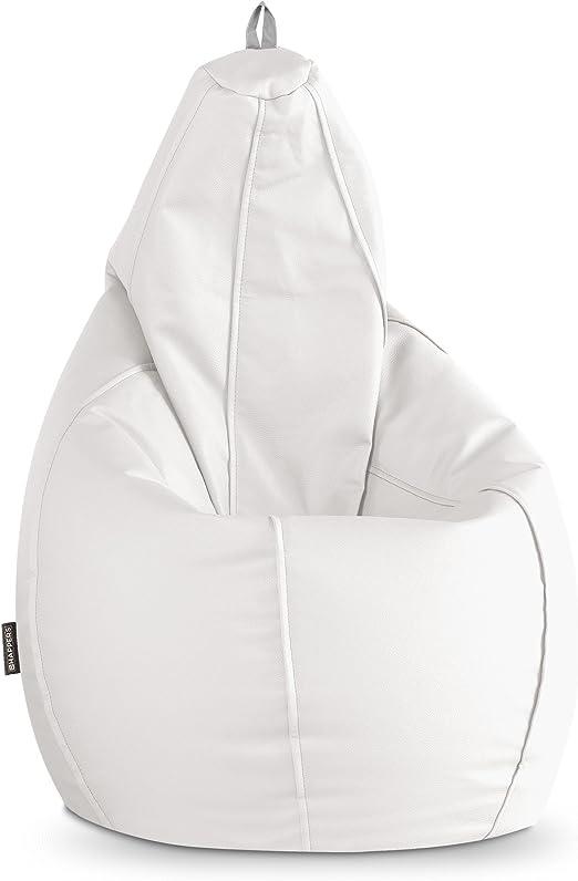 HAPPERS Puff Pera Polipiel Indoor Blanco XL: Amazon.es: Hogar