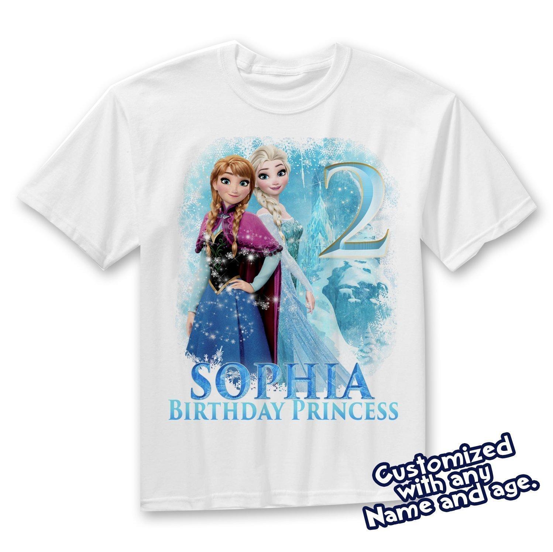 Frozen birthday shirt,Custom shirt,personalized Frozen custom Shirt