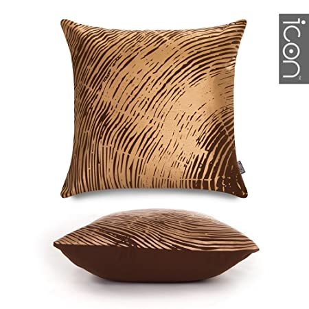 Icon Nature's Footprint Luxury Metallic Scatter Cushion BRONZE Unique Bronze Decorative Pillows