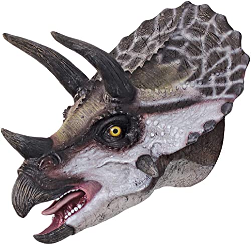 Design Toscano Scaled Triceratops Dinosaur Wall Trophy Sculpture