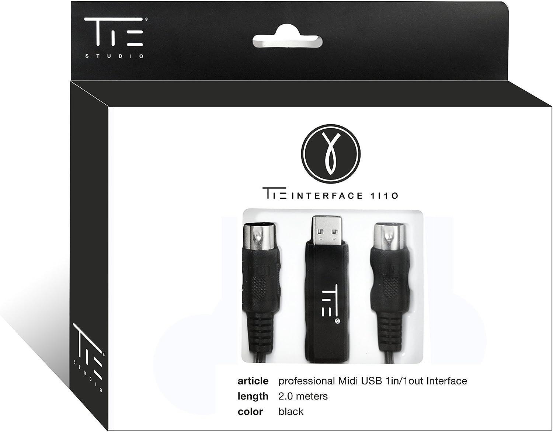 TIE Studio 19-90006 - Interface Audio USB Midi 1in-1out