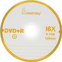 Smart Buy 100 Pack DVD+R 4.7gb 16x Logo Blank Data Video Movie Recordable Disc, 100 Disc 100pk
