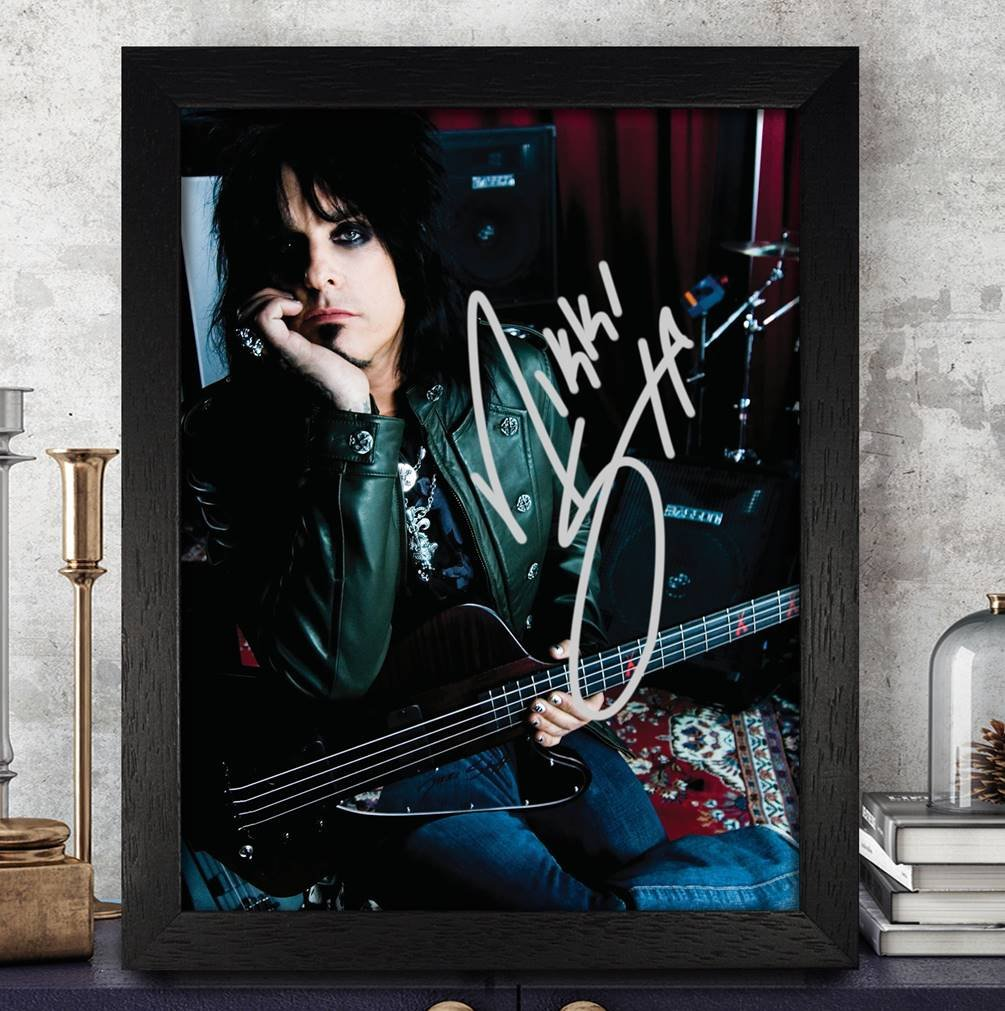 Nikki Sixx Autogramme signiert Foto 8/x 10/Nachdruck RP PP M/ötley Cr/üe
