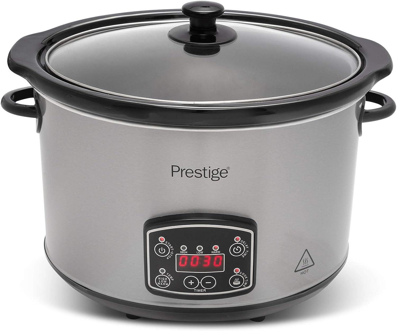 Aluminium 5.5 liters Prestige 48120 Digital Slow Cooker