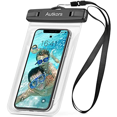 finest selection 24a47 1030d Autkors Waterproof Phone Case, Waterproof Phone Pouch Dry Bag with Lanyard  for iPhone X/XS/8/7/6s/6 Plus, Samsung S9 S8, Huawei P20 Mate20 Pro, Moto  ...