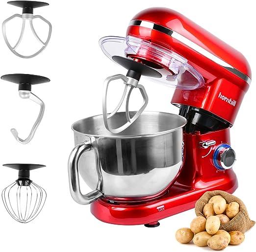 Hornbill Tilt-head Stand Mixer, Electric Mixer 600W 6-Speed 5-Quart  Stainless Steel Bowl Professional Kitchen Mixer With Dough Hook, Whisk, ...