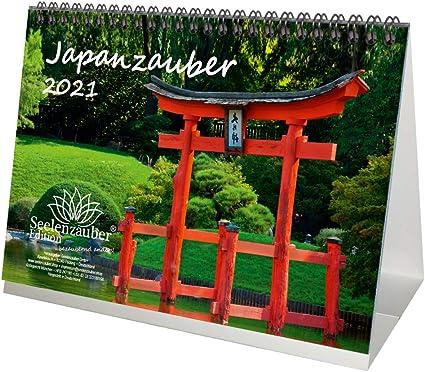 Calendario da tavolo in formato DIN A5 per 2021 città giapponese e
