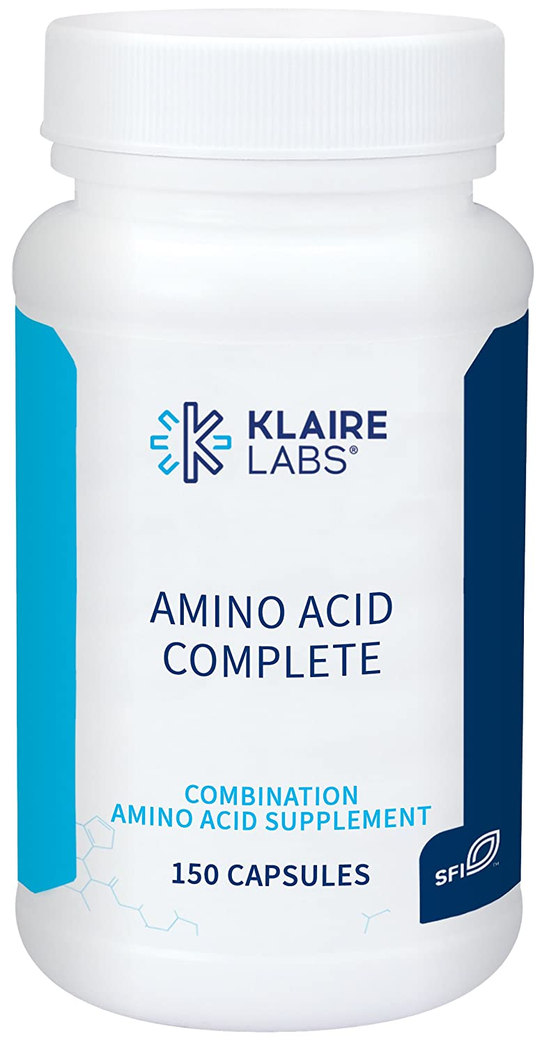 Klaire Labs Amino Acid Complete – 20-Free Form Essential Non-Essential Amino Acids, Professional Strength Hypoallergenic Complex to Support Protein Absorption 150 Vegetarian Capsules