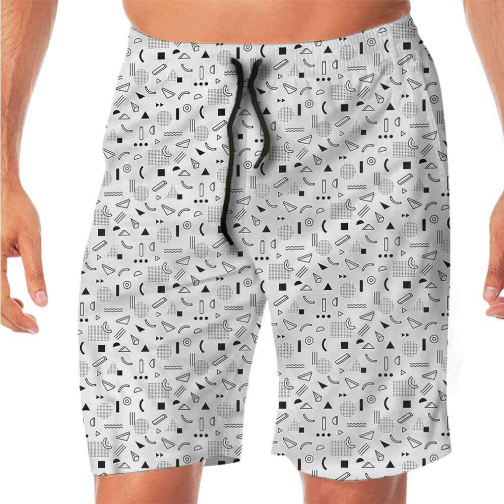 Quick-Dry Beach Running Shorts Men Constellation,Polar Bears Dotted Workout Shorts