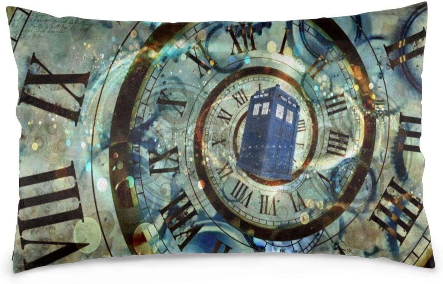 BAIFUMEN Doctor Dr Who Police Girls Boys Pillowcases Pillows Covers Cases Bedroom Decor Decoration Rectangle Two Sides Printed 20x30 Inch Hotel,Cafe,Car,Sofa Throw Pillow Case Cushion Cover