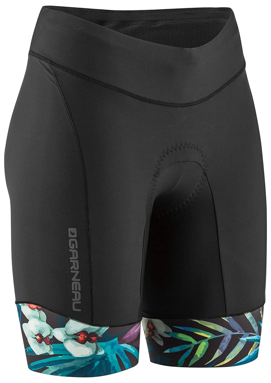X-Small Tropical Louis Garneau Womens Pro 8 Carbon Padded Triathlon Shorts with Pockets