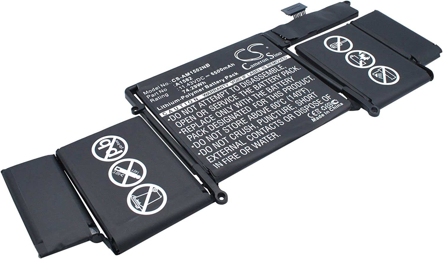 "Rechargeable Battery for Apple MacBook Pro 13"" 2015 Retina, MF839LL/A, MF841LL/A Replacement for Apple A1582"
