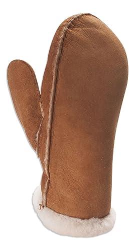 Nordvek - Manopole donna - 100% pelo di pecora - Polsini con elastico - # 320-100