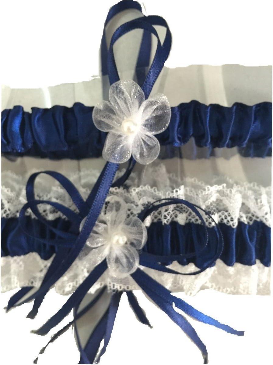 Giarrettiera da sposa in pizzo giarrettiera da sposa con fiore fatto a mano Leg bands da sposa accessori