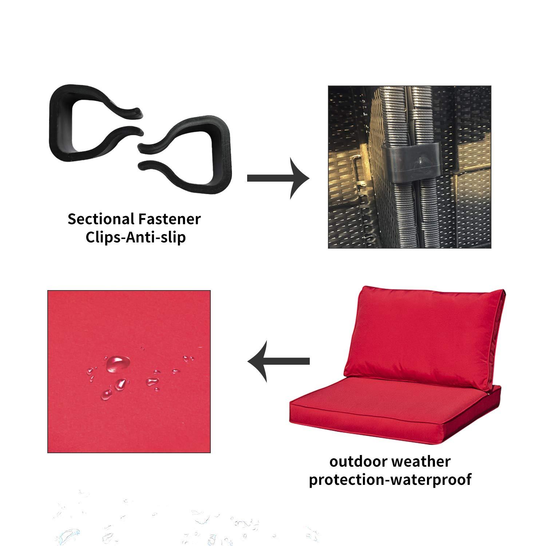 Amazon.com: Muebles de exterior para patio de mimbre ...
