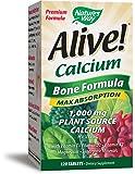 Nature's Way Alive Calcium Bone Formula Tablets, 120 Count