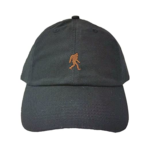 Go All Out Adjustable Black Adult Bigfoot Sasquatch Embroidered Dad Hat 2a043365f2e9