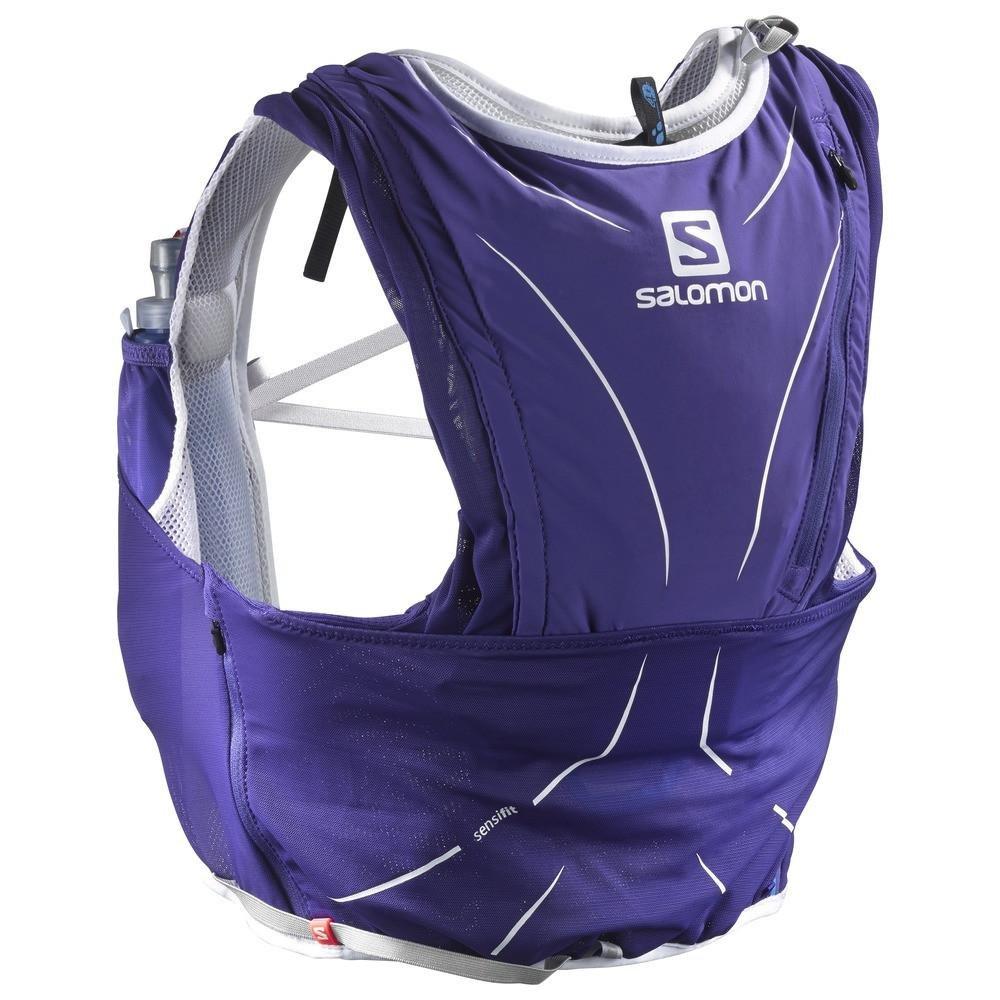 Salomon ADV SKIN 12 SET Sports Water Bottles, Spectrum Blue/White, X-Small/Small
