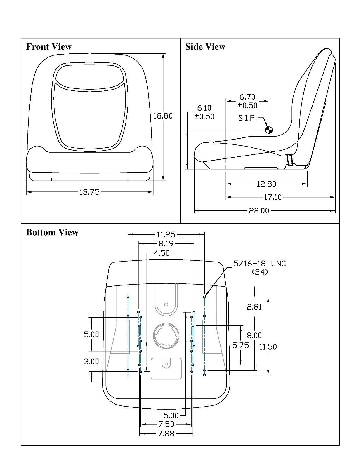 The ROP Shop Yellow HIGH Back SEAT w/Pivot Rod Bracket for John Deere 445 455 SST16 SST18 by The ROP Shop (Image #7)