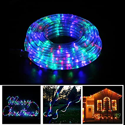 Rope Lights Christmas Decoration Light - 8 Modes 50ft 375LEDs Colorful -  Landscape Lighting Dancing Party - Amazon.com : Rope Lights Christmas Decoration Light - 8 Modes 50ft