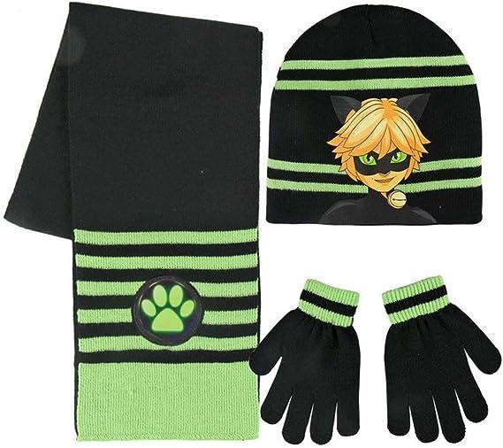 Cerdá 2200002515 Ensemble Bonnet, écharpe et gant, Noir (Negro 001), Unique (Taille Fabricant: Única) Garçon