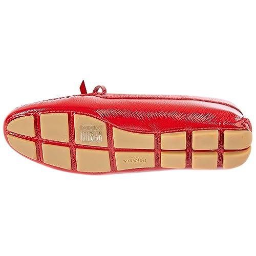 Prada Mocassini Donna in Pelle Originale Rosso  Amazon.it  Scarpe e borse 4182e3fbaf1