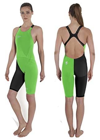 Speedo Womens LZR Racer Elite 2 Openback Knee Skin – Green Black – UK Size  22 b2984f3a16
