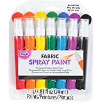 Tulip 29669 Fabric Mini Spray Paint, Rainbow, 7-Pack