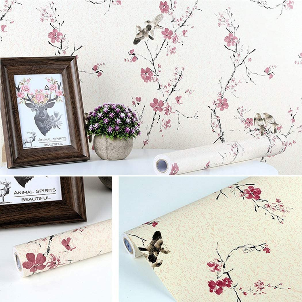 Amazon Com Bird Floral Contact Paper Self Adhesive Shelf Liner