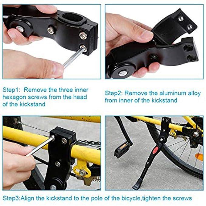 YUNQI Soporte de Bicicleta Ajustable de Aleación de Aluminio, Soporte de Repuesto para Bicicleta DE 22 a 27 Pulgadas: Amazon.es: Deportes y aire libre