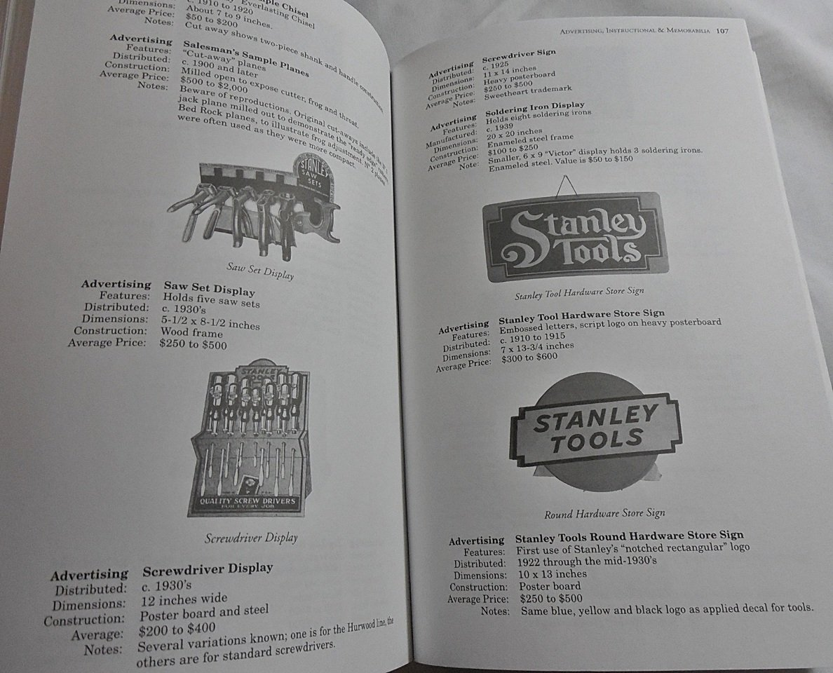 Antique & Collectible Stanley Tools Guide to Identity & Value by Example Product Brand (Image #1)