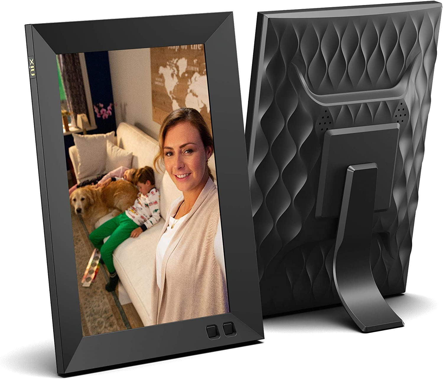 NIX 8 Inch Digital Picture Frame - Portrait or Landscape Stand, HD Resolution, Auto-Rotate, Remote Control - Mix Photos and Videos in The Same Slideshow