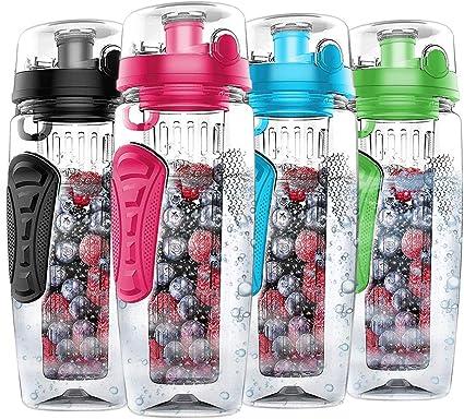 1 x Trinkflasche Obsteinsatz grün Detox Flasche Infuser Bottle Obsttrinkflasche