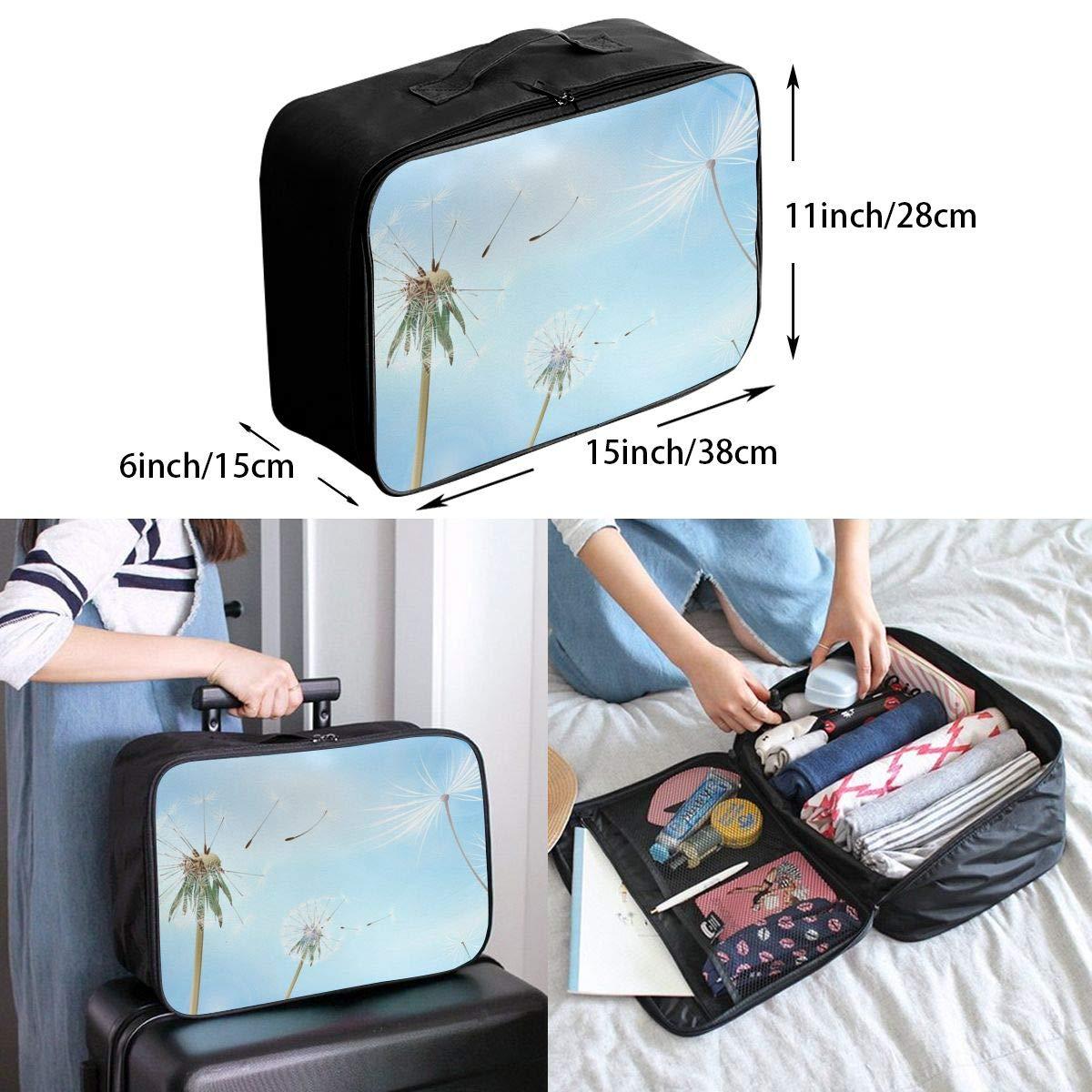 Travel Luggage Duffle Bag Lightweight Portable Handbag Dandelion Large Capacity Waterproof Foldable Storage Tote
