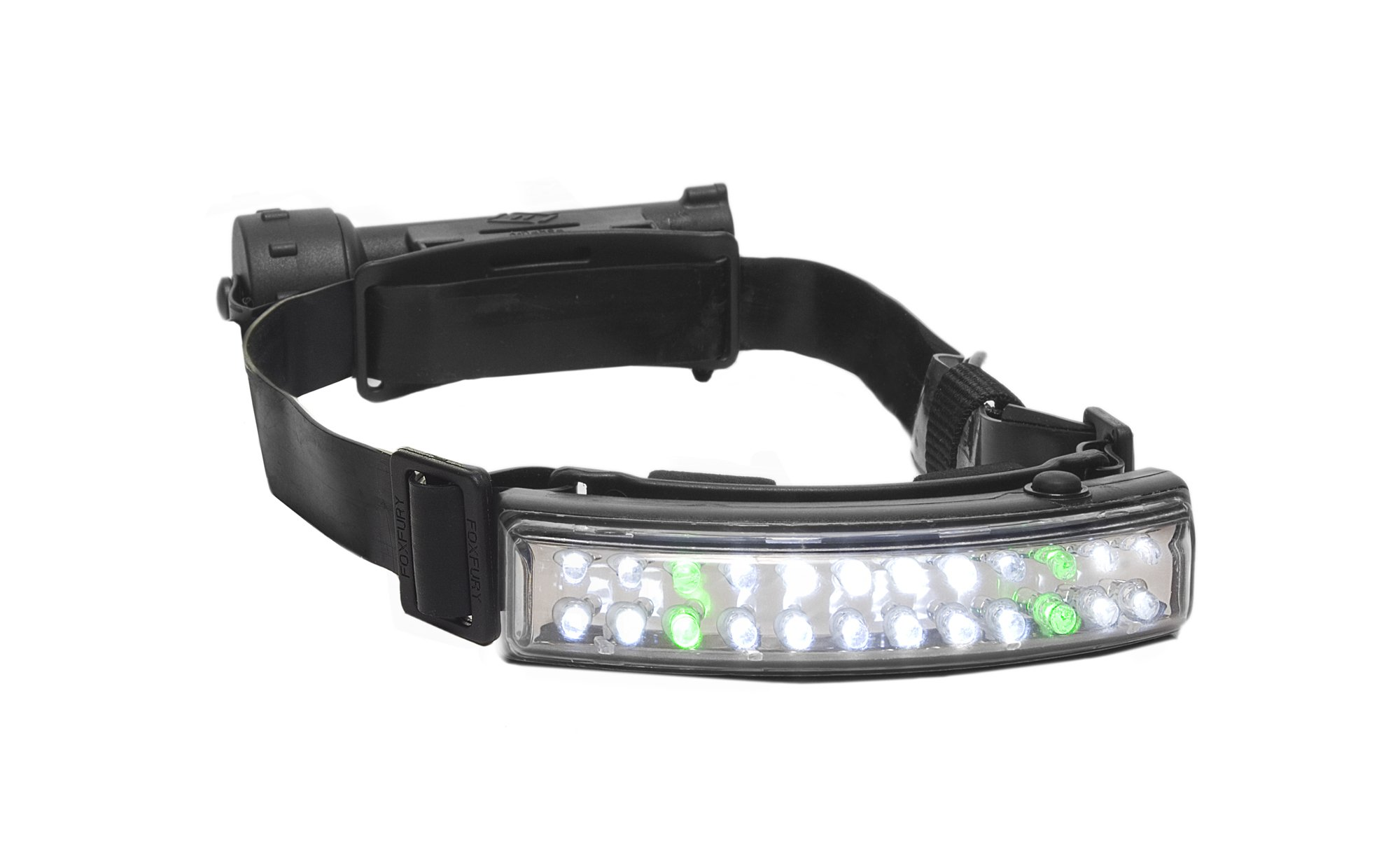 FoxFury 400-006 Performance Fire LED Helmet Light/Headlamp with Silicone Strap, 82 Lumens by FoxFury