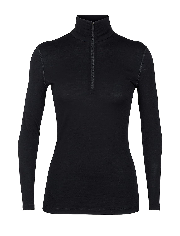 5bc6163f0fd Amazon.com: Icebreaker Merino Women's WMNS 200 Oasis Ls Half Zip, Black, L:  Icebreaker: Clothing