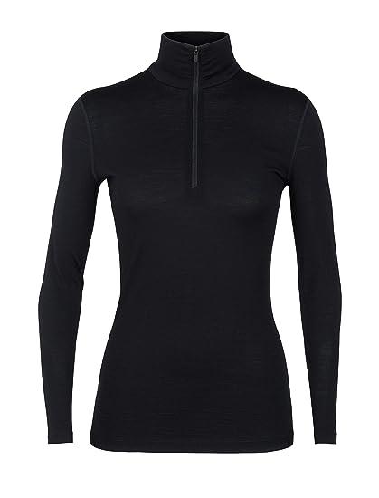 d8c8bd6dc4 Icebreaker Merino Women's 200 Oasis Long Sleeve Half Zip, Black, ...