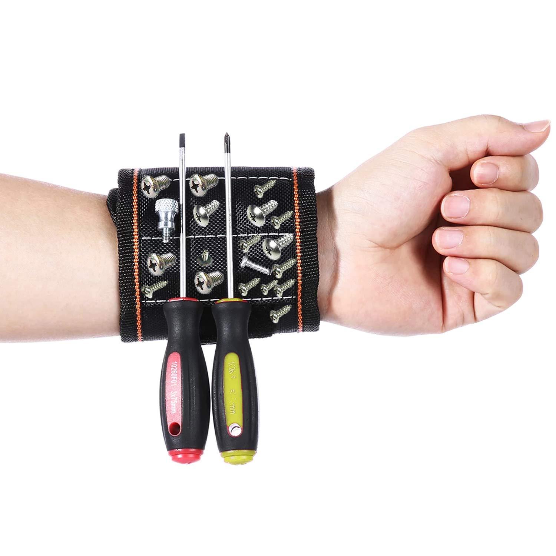boulons Clous vis forets Small FtingSun Bracelet /à Outils magn/étique avec aimants Super puissants pour Maintenir Les Outils