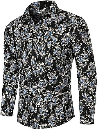 Xlala - Camisa de Vestir para Hombre, de otoño, Informal ...