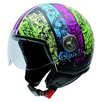 NZI 050278G899 Zeta Monster High Ghouls, Casco de Moto, Talla 59 (XL)