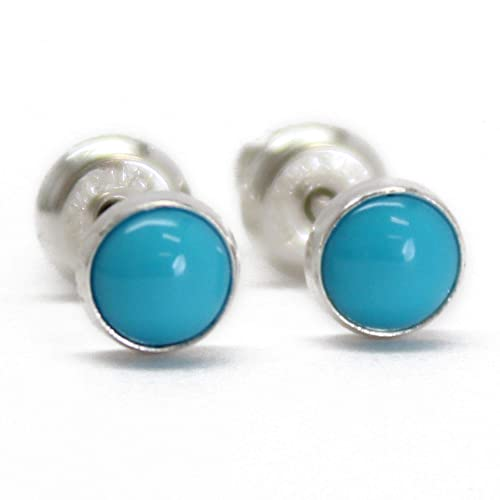 Gemstone earrings MADE TO ORDER. Silver jewellery Sterling silver post earrings Handmade Sterling silver stud earrings with turquoise