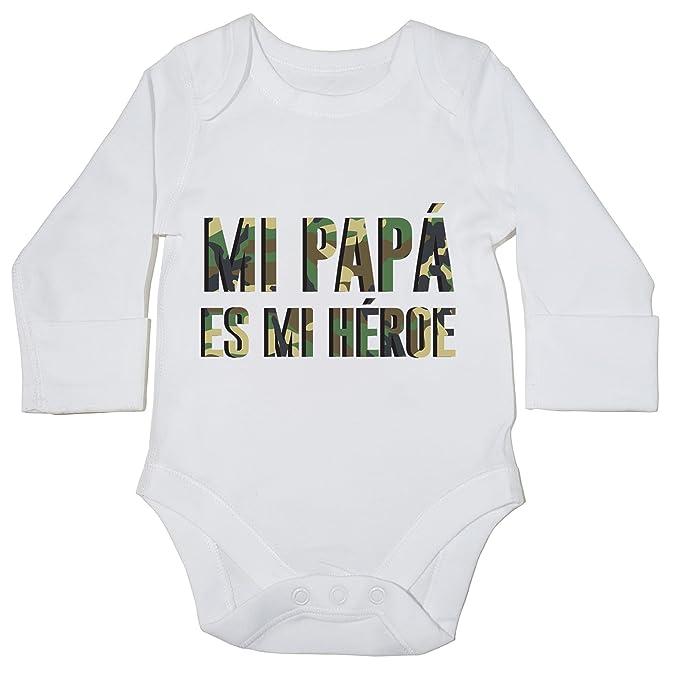 HippoWarehouse Mi Papá es mi Héroe momento body manga larga bodys pijama  niños niñas unisex c22ef92addd