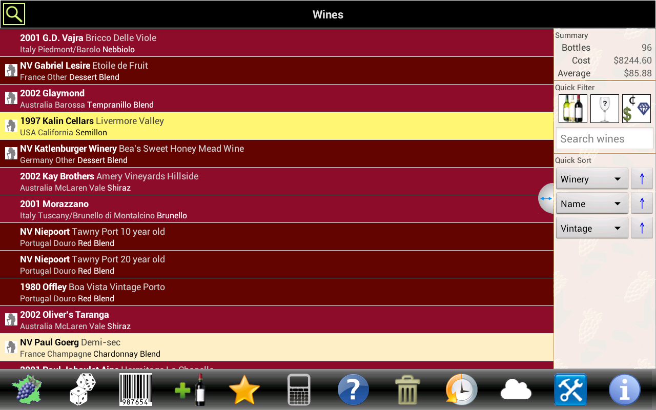 amazon com wine tracker appstore for android