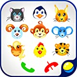 Babyphone for babies - fun interactive educational game for toddlers to make fake phone calls and learn numbers from 0 to 9, wild and...